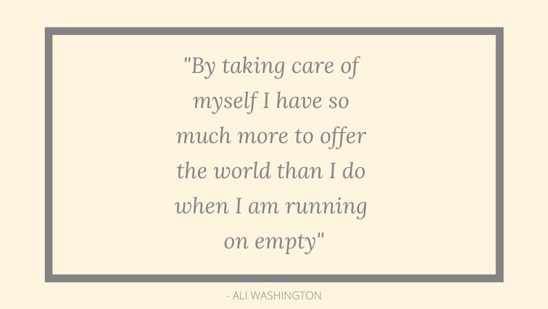 Taking care of myself